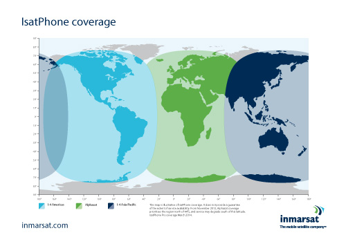 IsatPhone Coverage Map